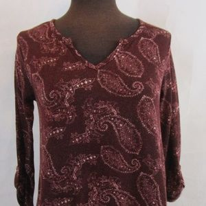 Charlotte Russe Womens Top Size Small Burgundy Red